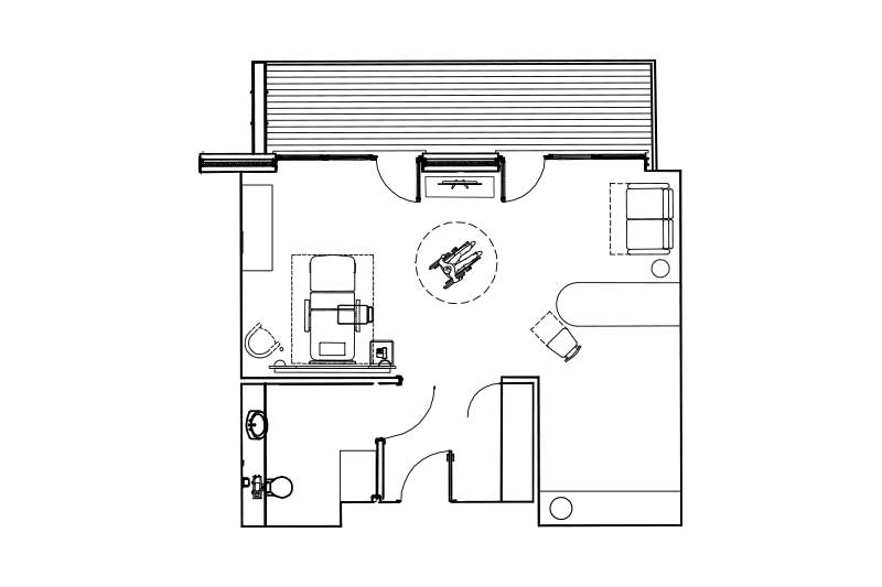 Premier room floorplan