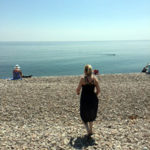 Care Assistant - Jessica, on the beach in Sidmouth