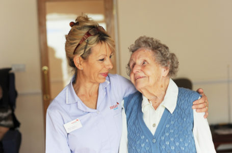 Care Assistant with resident at Clarence Park Nursing Home care homes Weston Super Mare