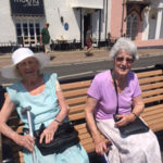 Residents enjoying the sunshine in Sidmouth