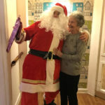 Santa with Cedar Lodge resident