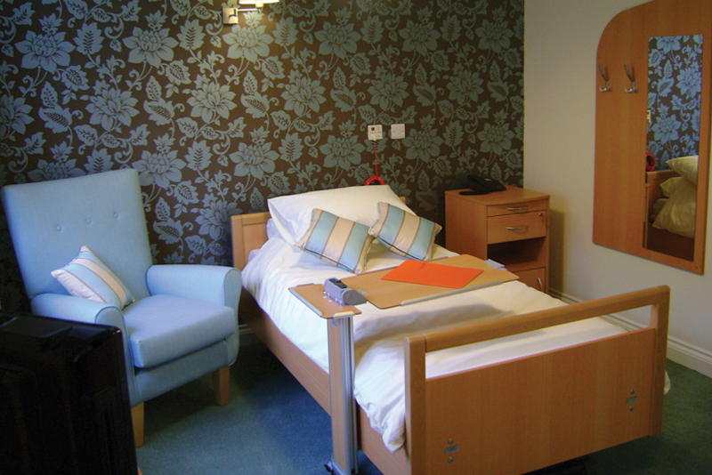 Bedroom at Clarence Park Nursing Home Weston Super Mare