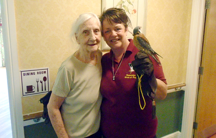 Sharandy's Birds of Prey visit to Immacolata House