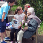 Curry Rivel pupils with an Immacolata house resident
