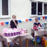 School pupils managing the sweet and nik naks stalls