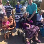 Resident and relatives at Casa di Lusso's open day