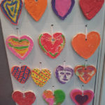 Casa di Lusso resident's heart artwork hanging in reception