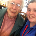 Resident and Activities Coordinator, Louise, at The Garden Centre
