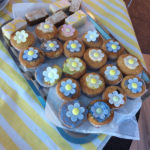 Tray of cakes for St Margaret's Hospice fundraiser