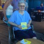 Resident during Time for Tea St Margaret's Hospice fundraiser