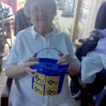 Resident during Time for Tea St Margaret's Hospice fundraiser