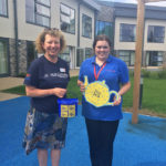 Terena, fundraiser from St Margaret's Hospice with Louise, Casa di Lusso Activities Coordinator