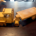John's handmade wooden lorry