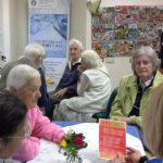 Immacolata House residents at LangFest celebrating their exhibition