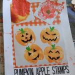 Finished pumpkin apple stamps