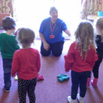 Little Pips Children with Immacolata House Activities Coordinator, Nicky