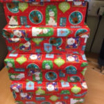 Christmas shoe boxes packed by the Stuart House team