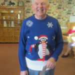 Sam, winner of the Christmas Jumper Competition