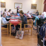 Residents and loved ones during the bingo game