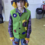 King Ina school pupil dressed as a scarecrow