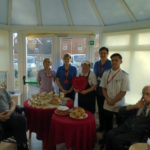 Aspen Court staff & residents on Dignity Action Day