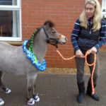dressed up lofty with owner April, ready to meet everyone at Aspen Court