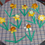 Finished paper 3D daffodils