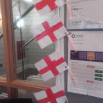 Casa di Lusso's resident's home made St George's Day flags