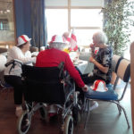 Residents during their St George's Day tea party