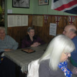 Residents sat down in the 1940s tearoom