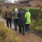 Immacolata Residents walking round Barrington Court