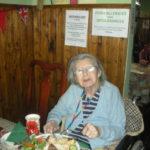 Resident enjoying lunch in the tearoom