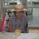 Clarence Park resident wearing a hat for Brain Tumour research