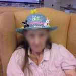 Immacolata House resident wearing an Easter hat