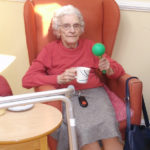 Clarence Park resident during Music For Health workshop