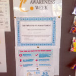 Casa di Lusso notice board displaying deaf awareness week information
