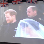 Prince Harry & Meghan on tv during their wedding day