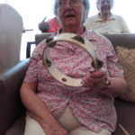 Casa di Lusso resident playing a percussion instrument to live music