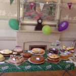 All the cakes displayed at Immacolata House care home macmillan coffee morning