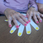 La Fontana resident placing her hands on her left hand picture