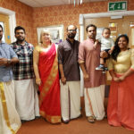 Immacolata House care home manager with Nurses & deputies from Kerala dressed in traditional Indian attire