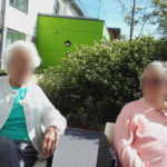 Casa di Lusso residents enjoying the maytime sunshine in the garden