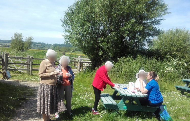Casa di Lusso residents enjoying refreshments at the local nature reserve