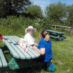 Casa di Lusso residents enjoying refreshments in the maytime sunshine at the local nature reserve