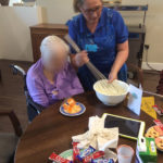 Casa di Lusso residents and staff making freak shakes