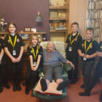 The Mini Police visit Cedar Lodge Care Home, Taunton
