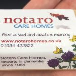 Proud Sponsors of Taunton Flower show Notaro Care homes