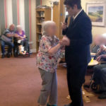 Immacolata House resident dancing with the King of Cool