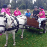 Immacolata House resident taking the reins at the Forde Abbey RDA Carriage Driving Group