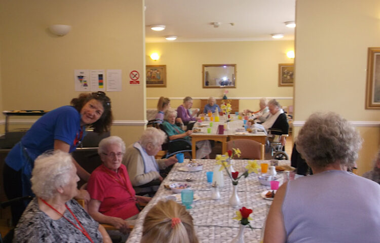 Clarence Park residents and church club members members during their community lunch
